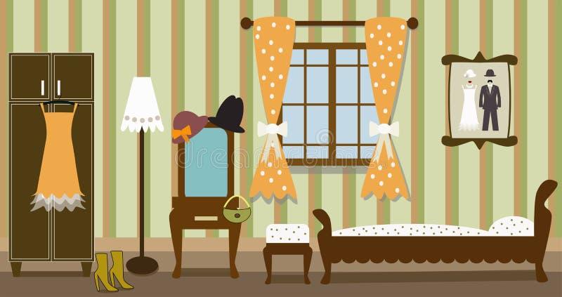 Απεικόνιση της εκλεκτής ποιότητας κρεβατοκάμαρας απεικόνιση αποθεμάτων