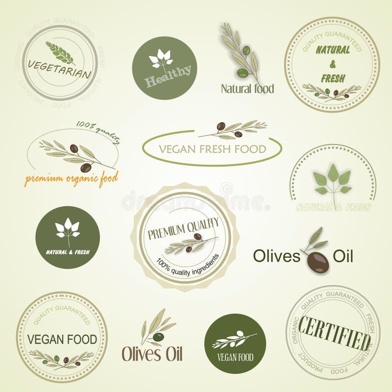 Απεικόνιση της οργανικής τροφής, διάνυσμα διανυσματική απεικόνιση