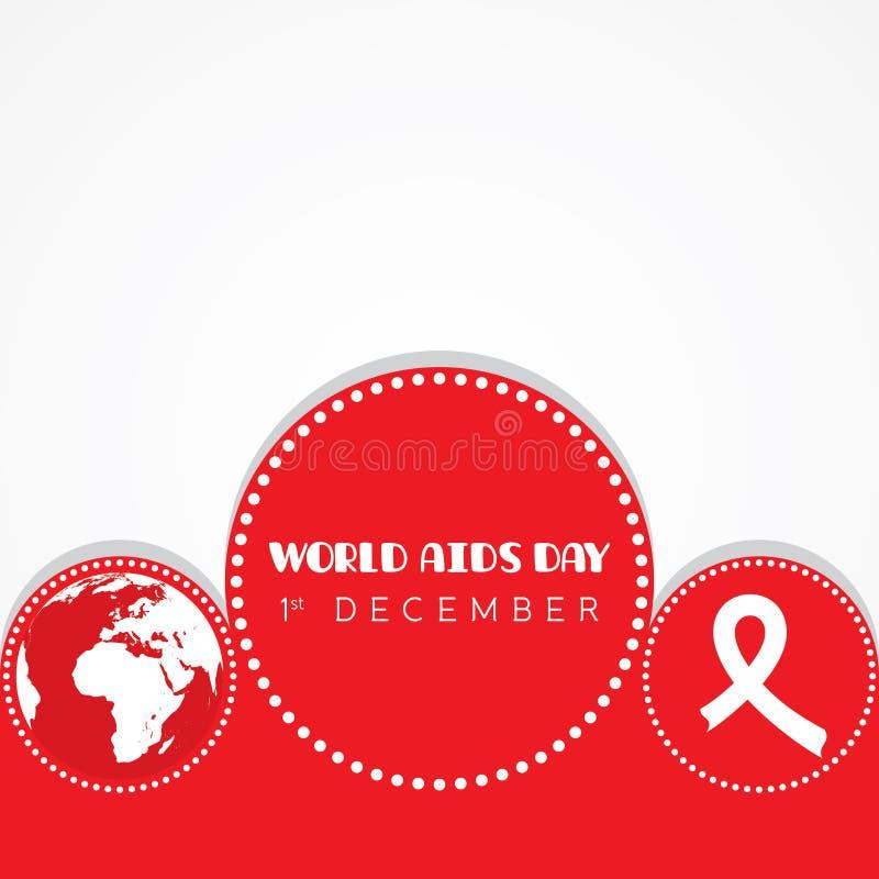 Απεικόνιση της Παγκόσμιας Ημέρας κατά του AIDS διανυσματική απεικόνιση