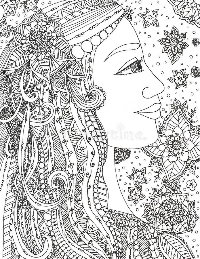 Απεικόνιση της φανταστικής πριγκήπισσας στοκ φωτογραφία με δικαίωμα ελεύθερης χρήσης