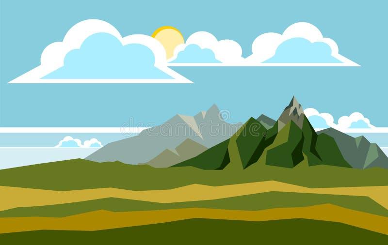 Απεικόνιση τοπίων βουνών στοκ φωτογραφίες