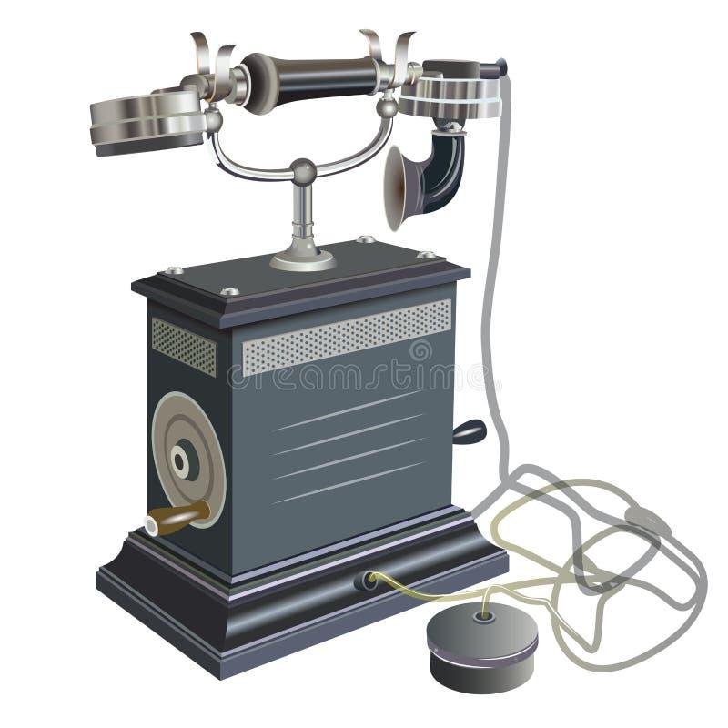 Απεικόνιση του αναδρομικού παλαιού τηλεφώνου ύφους ελεύθερη απεικόνιση δικαιώματος