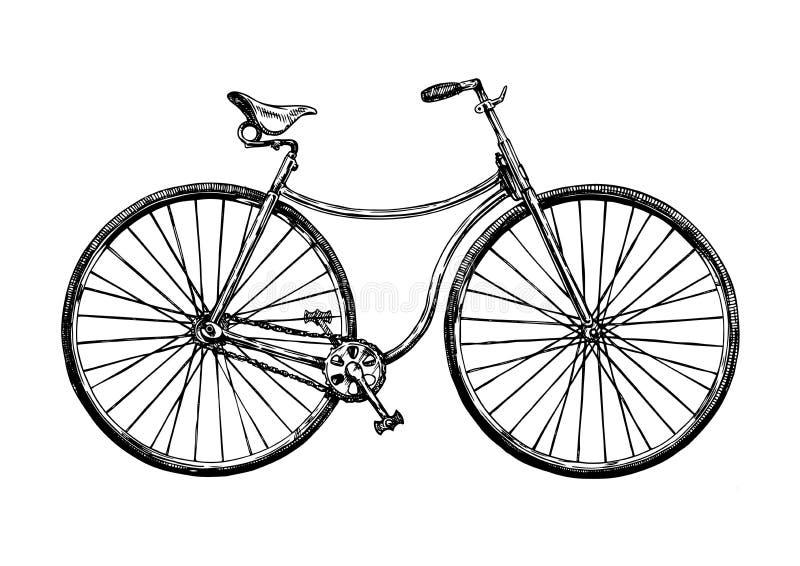 Απεικόνιση του αναδρομικού ποδηλάτου διανυσματική απεικόνιση