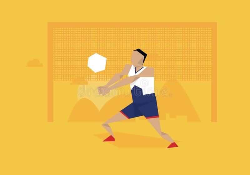 Απεικόνιση του αρσενικού ανταγωνισμού φορέων πετοσφαίρισης στο γεγονός ελεύθερη απεικόνιση δικαιώματος