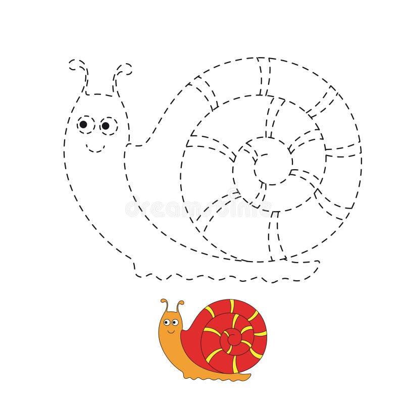 Απεικόνιση του αστείου σαλιγκαριού για τα μικρά παιδιά απεικόνιση αποθεμάτων