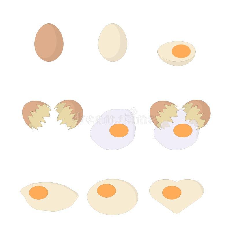 Απεικόνιση του αυγού/βρασμένο αυγό/του σπασμένου αυγού/του τηγανισμένου αυγού στοκ εικόνα