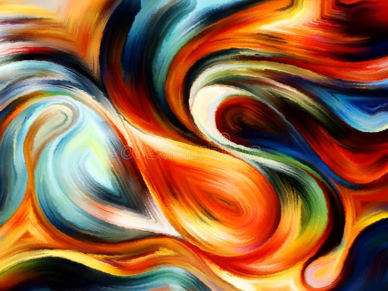 Απεικόνιση του εσωτερικού χρώματος διανυσματική απεικόνιση