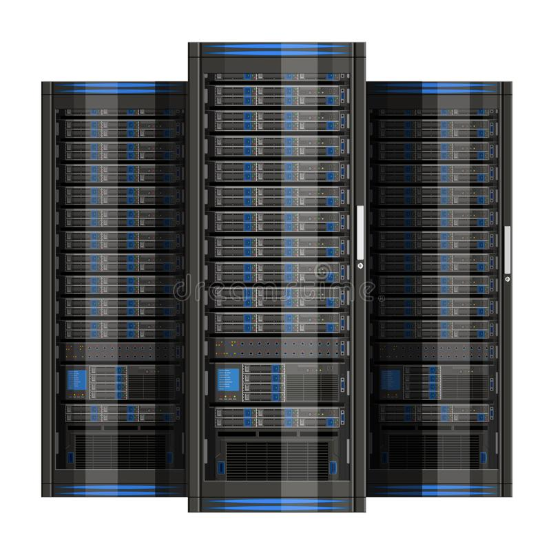 Απεικόνιση του κεντρικού υπολογιστή δικτύων με το επίπεδο σχέδιο απεικόνιση αποθεμάτων