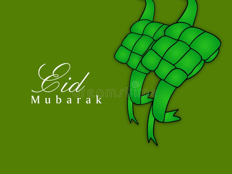 Απεικόνιση του μουσουλμανικού υποβάθρου Eid φεστιβάλ απεικόνιση αποθεμάτων