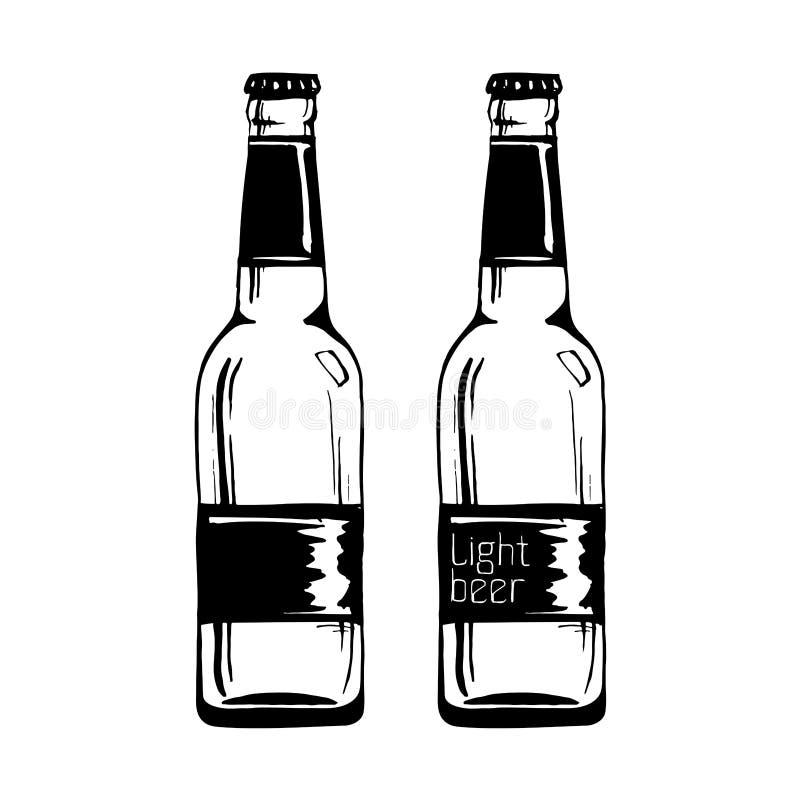 Απεικόνιση του μπουκαλιού μπύρας ελεύθερη απεικόνιση δικαιώματος