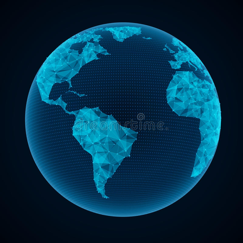 Απεικόνιση του παγκόσμιου δικτύου διανυσματική απεικόνιση