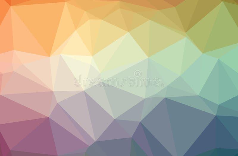 Απεικόνιση του πορτοκαλιού και μπλε αφηρημένου polygonal σύγχρονου πολύχρωμου υποβάθρου ελεύθερη απεικόνιση δικαιώματος