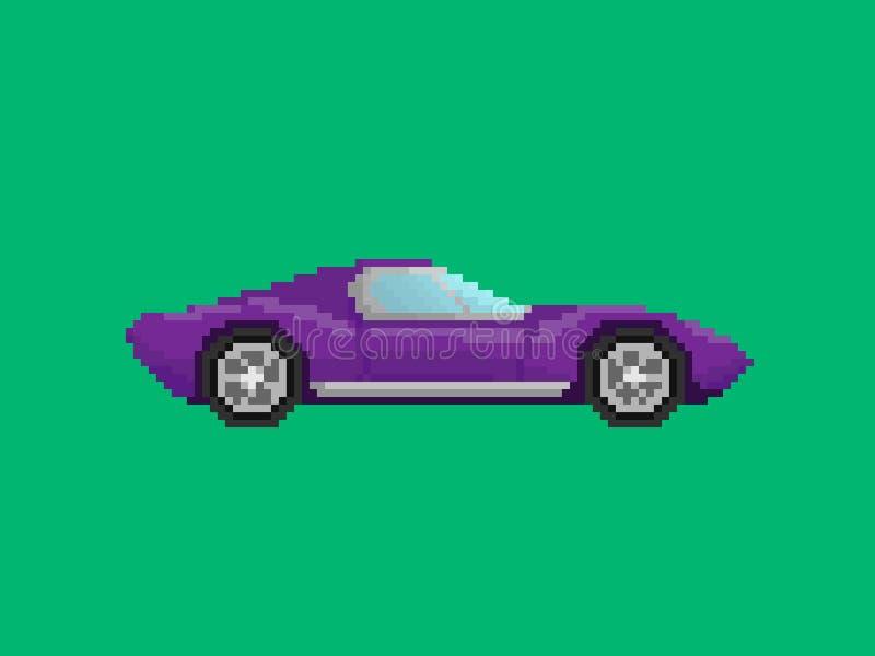 Απεικόνιση του πορφυρού σπορ αυτοκίνητο στο ύφος τέχνης εικονοκυττάρου στοκ φωτογραφίες με δικαίωμα ελεύθερης χρήσης