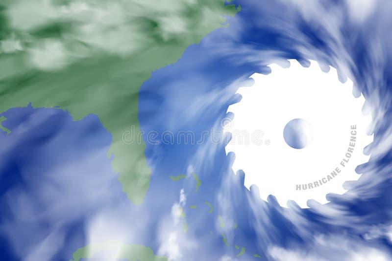 Απεικόνιση του τίτλου της Φλωρεντίας τυφώνα δολοφόνων προς τις Ηνωμένες Πολιτείες διανυσματική απεικόνιση