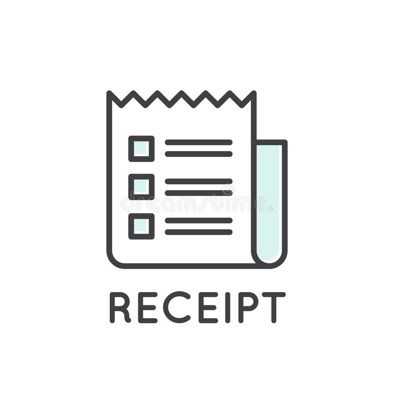 Απεικόνιση του τιμολογίου εγγράφου παραλαβών ελεύθερη απεικόνιση δικαιώματος