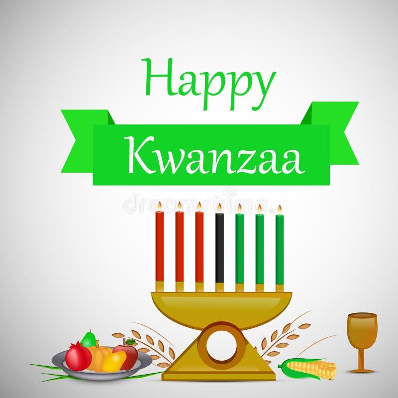 Απεικόνιση του υποβάθρου Kwanzaa διανυσματική απεικόνιση