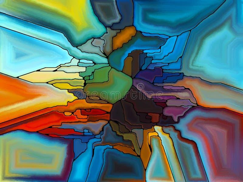 Απεικόνιση του ψηφιακού λεκιασμένου γυαλιού απεικόνιση αποθεμάτων