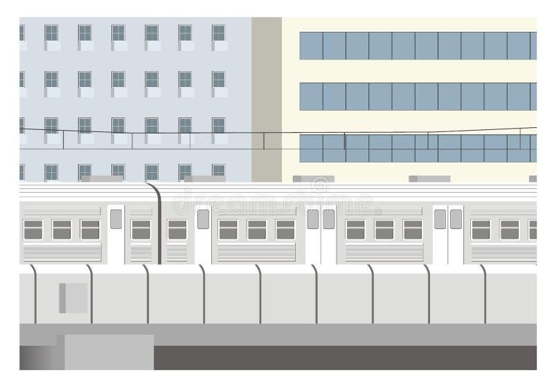 Απεικόνιση τραίνων πόλεων απεικόνιση αποθεμάτων