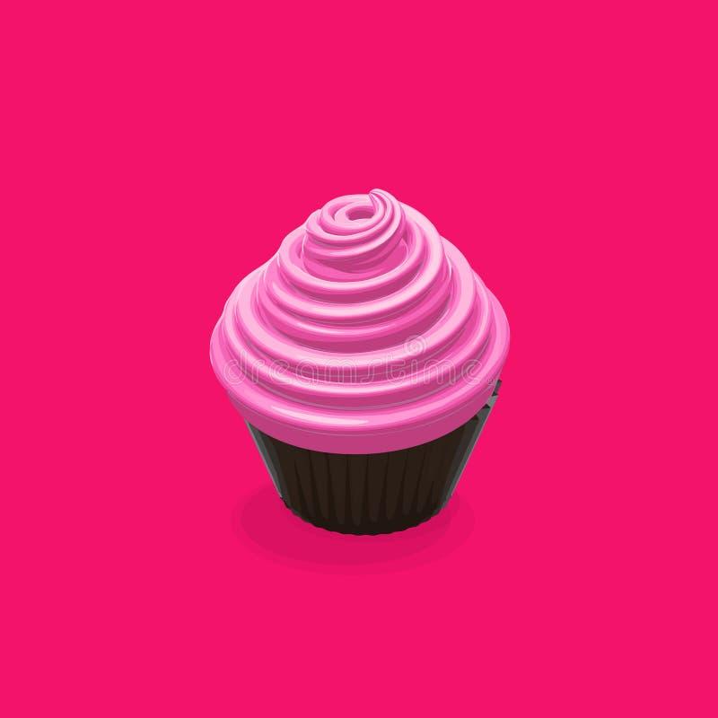 Απεικόνιση τροφίμων Cupcake διανυσματική απεικόνιση