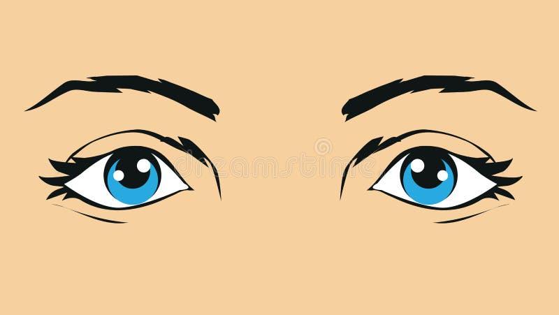 Απεικόνιση των ανθρώπινων ματιών απεικόνιση αποθεμάτων