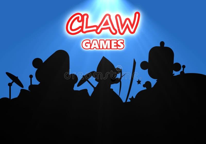 Απεικόνιση των παιχνιδιών νυχιών των παιδιών στη συναυλία στο μπλε υπόβαθρο ελεύθερη απεικόνιση δικαιώματος