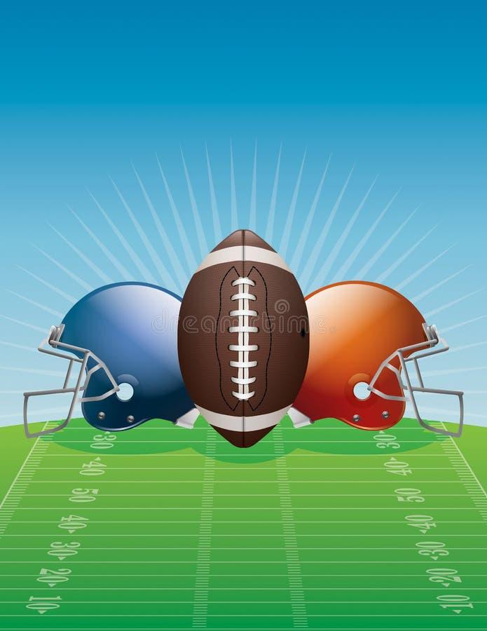 Απεικόνιση υποβάθρου αμερικανικού ποδοσφαίρου διανυσματική απεικόνιση