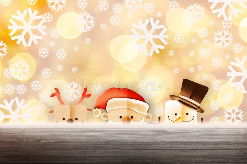 Απεικόνιση υποβάθρου Χριστουγέννων αστείου Άγιου Βασίλη και του κόκκινου ν στοκ εικόνα με δικαίωμα ελεύθερης χρήσης