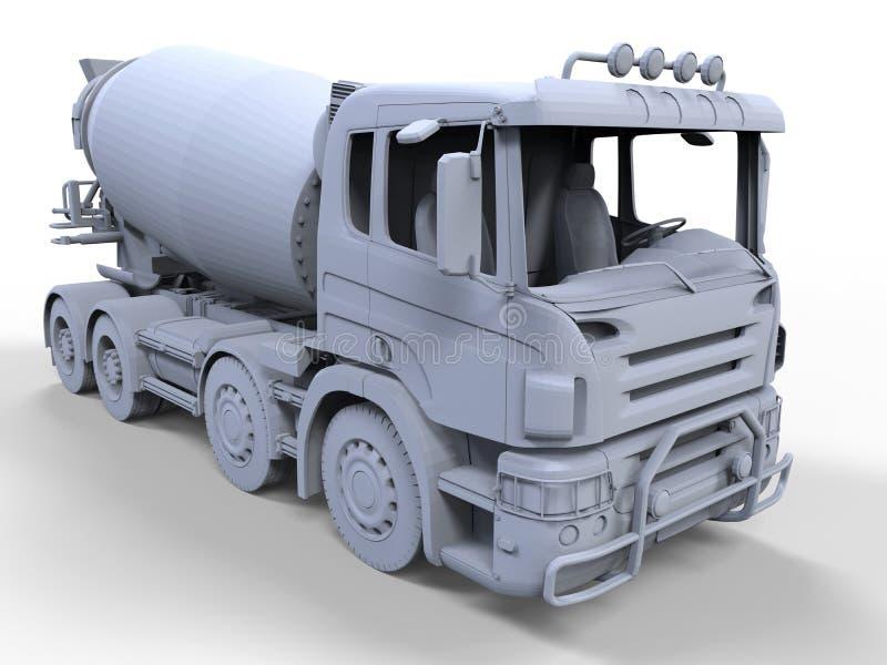 Απεικόνιση φορτηγών αναμικτών τσιμέντου διανυσματική απεικόνιση