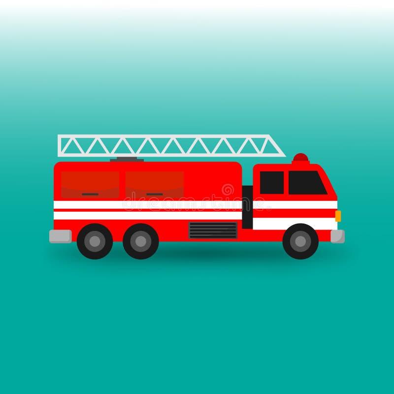 Απεικόνιση φορτηγών πυροσβεστών πυροσβεστικών αντλιών απεικόνιση αποθεμάτων