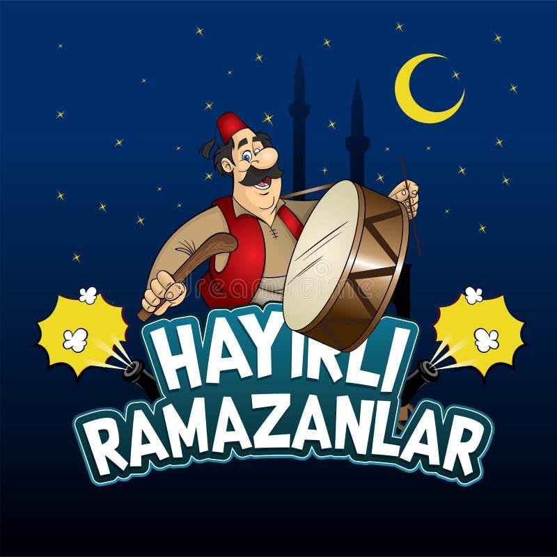 Απεικόνιση χαρακτήρα τυμπανιστών Ramadan στοκ φωτογραφίες με δικαίωμα ελεύθερης χρήσης