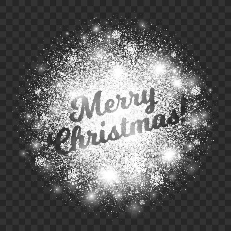 Απεικόνιση Χαρούμενα Χριστούγεννας στο διαφανές διάνυσμα υποβάθρου απεικόνιση αποθεμάτων