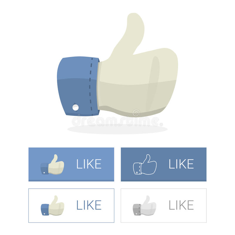 Απεικόνιση χεριών με το μεγάλο δάχτυλο στοκ φωτογραφίες με δικαίωμα ελεύθερης χρήσης