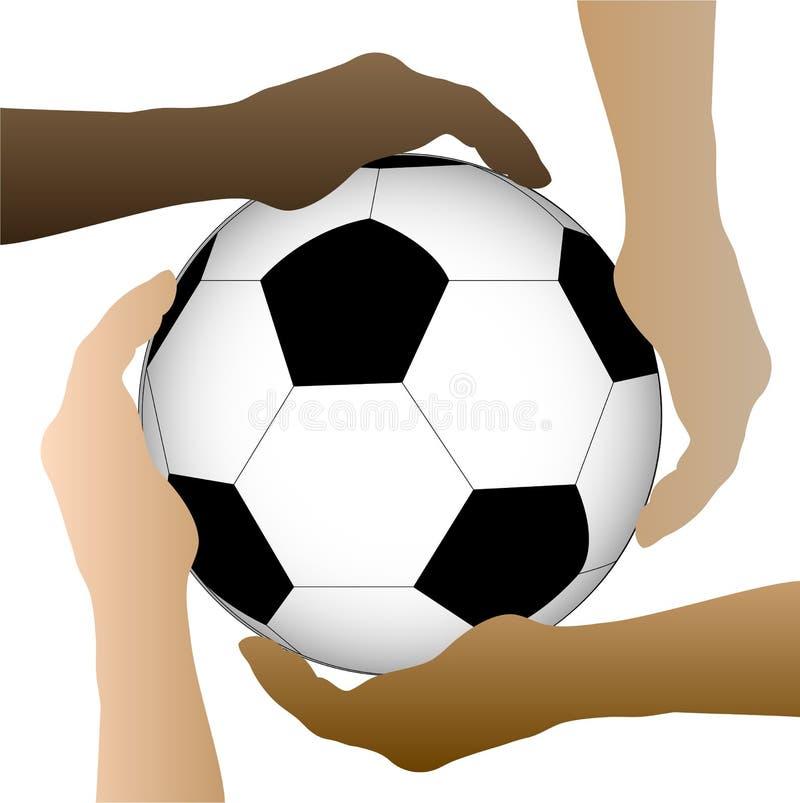 Απεικόνιση χεριών σφαιρών ποδοσφαίρου ελεύθερη απεικόνιση δικαιώματος