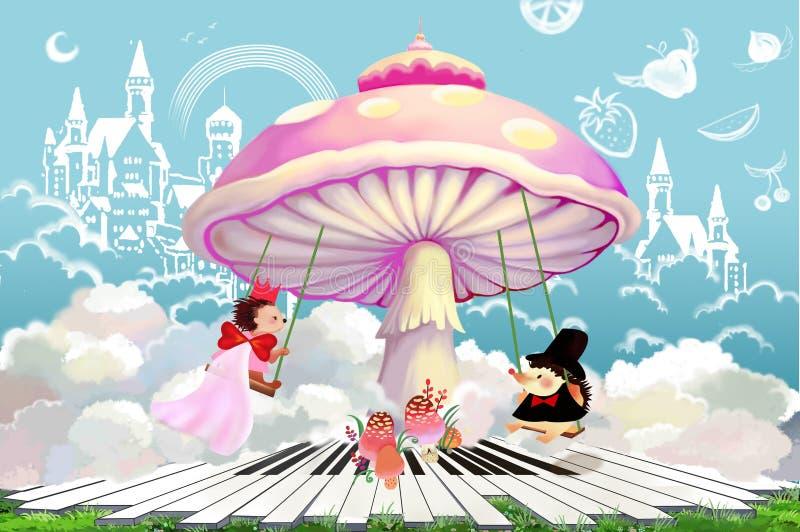 Απεικόνιση: Όταν έχετε έναν καλό γάμο Θα είστε κύριος ολόκληρου του κόσμου! διανυσματική απεικόνιση