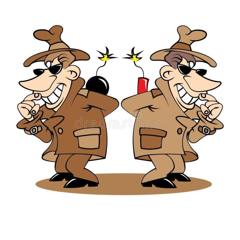 Απεικόνιση δύο κατασκόπων διανυσματική απεικόνιση