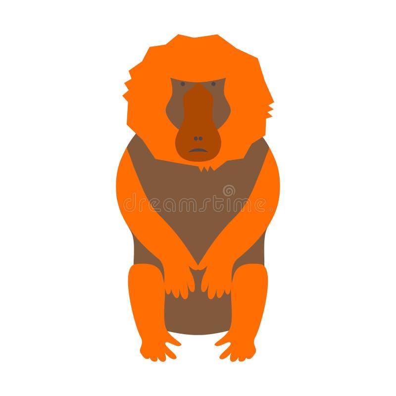Απεικόνιση baboon πιθήκων ελεύθερη απεικόνιση δικαιώματος