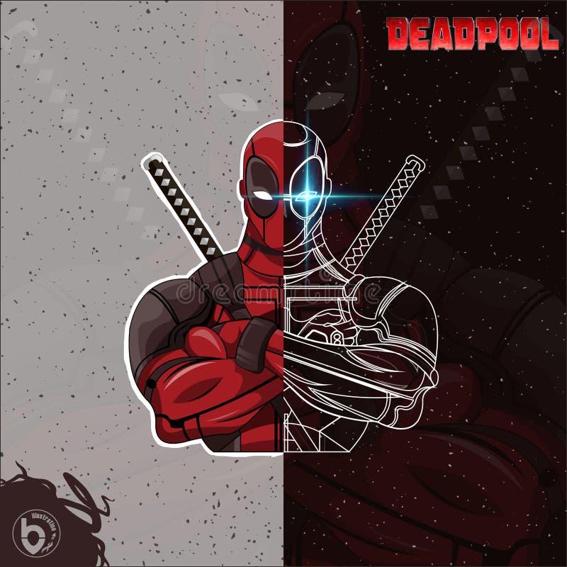 Απεικόνιση Deadpool στοκ εικόνες