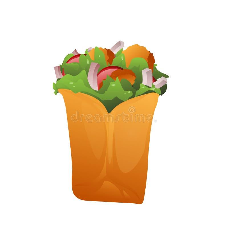 Απεικόνιση Doner kebab ελεύθερη απεικόνιση δικαιώματος