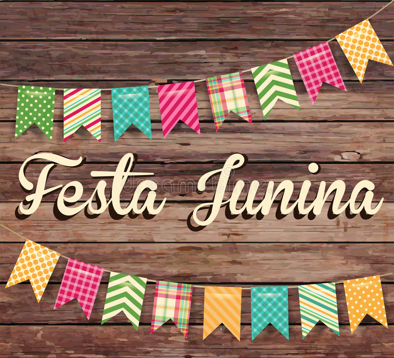 Απεικόνιση Junina Festa - παραδοσιακό κόμμα φεστιβάλ της Βραζιλίας Ιούνιος απεικόνιση αποθεμάτων