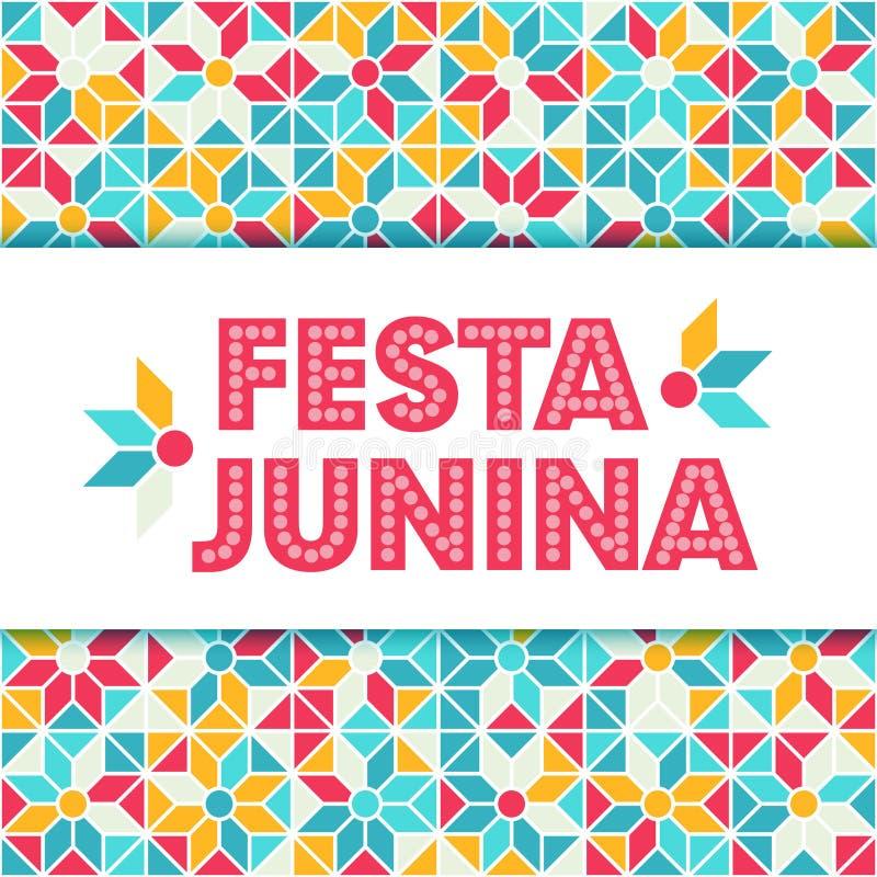 Απεικόνιση Junina Festa - φεστιβάλ της Βραζιλίας Ιούνιος διανυσματική απεικόνιση