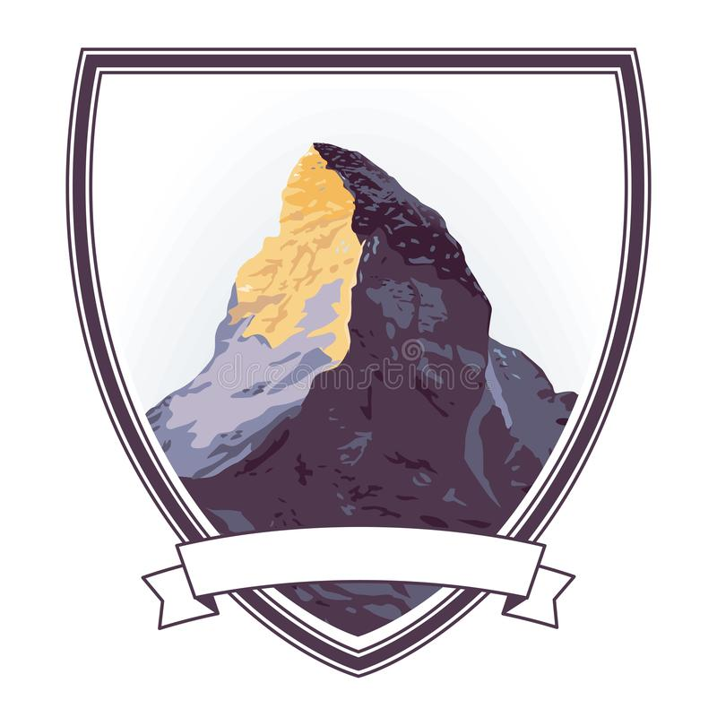 Απεικόνιση Mountaintop με Matterhorn ελεύθερη απεικόνιση δικαιώματος