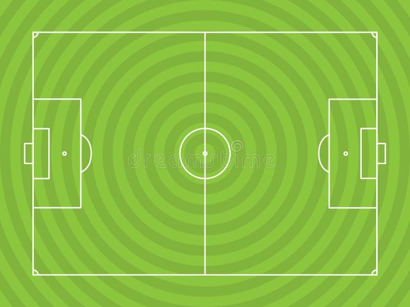 Απεικόνιση Soccerfield διανυσματική απεικόνιση
