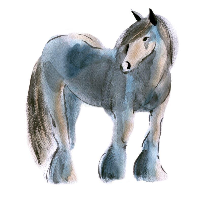 Απεικόνιση Watercolor ενός αλόγου ελεύθερη απεικόνιση δικαιώματος