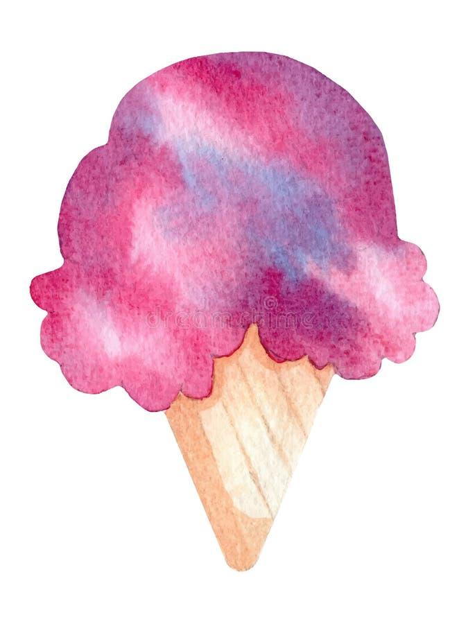 Απεικόνιση watercolor παγωτού ελεύθερη απεικόνιση δικαιώματος