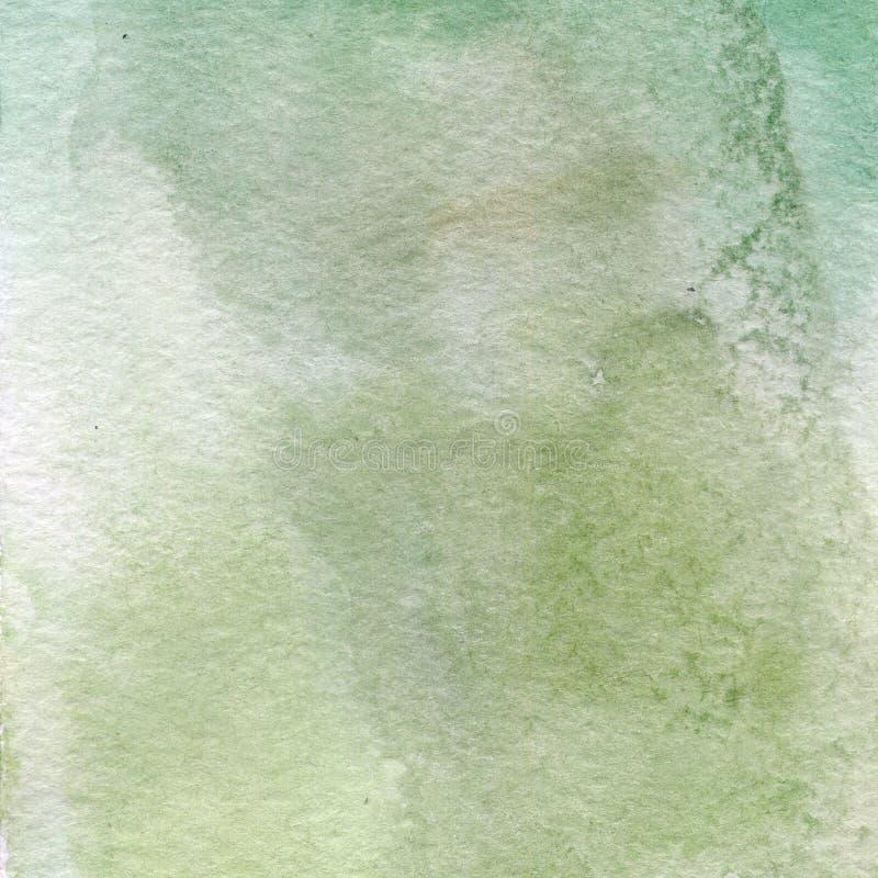 Απεικόνιση Watercolor, σύσταση Μετάβαση, έγχυση του χρώματος, διάδοση Ocher, πράσινος, γκρίζο διανυσματική απεικόνιση