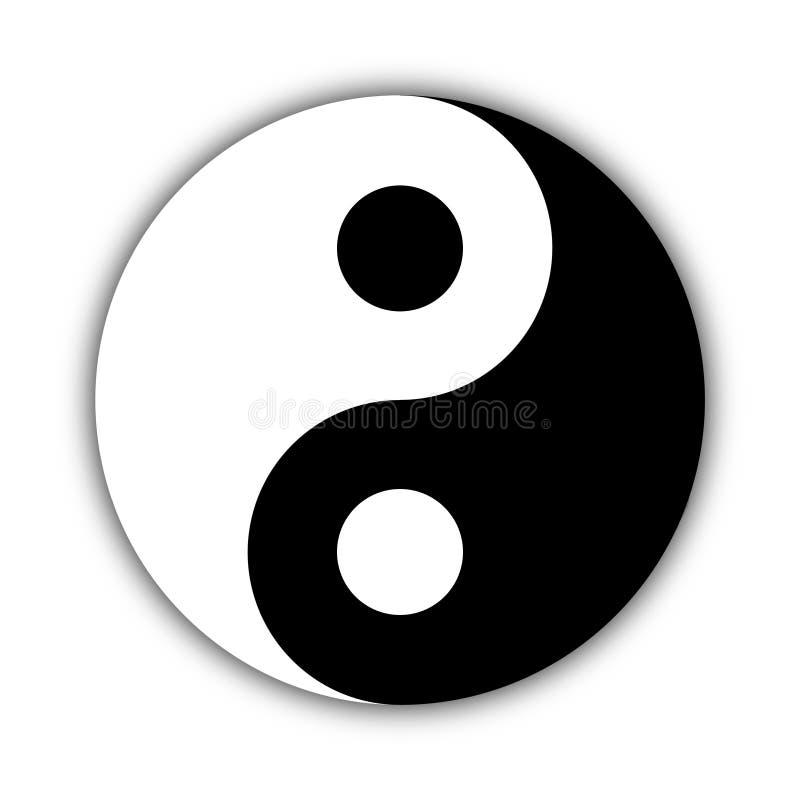Απεικόνιση Yin Yang, σύμβολο της αρμονίας και της ισορροπίας διανυσματική απεικόνιση