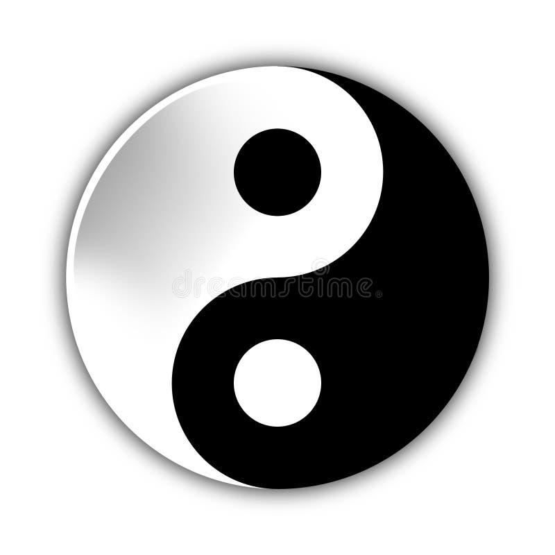 Απεικόνιση Yin Yang, σύμβολο της αρμονίας και της ισορροπίας ελεύθερη απεικόνιση δικαιώματος