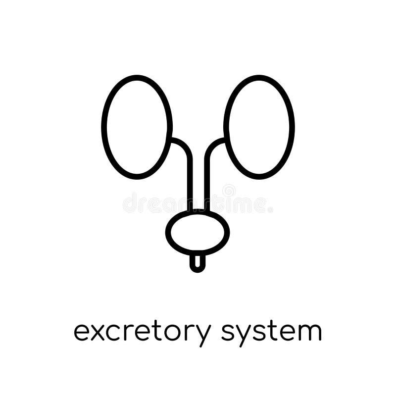 Απεκκριτικό εικονίδιο συστημάτων Καθιερώνον τη μόδα σύγχρονο επίπεδο γραμμικό διανυσματικό Excretor διανυσματική απεικόνιση