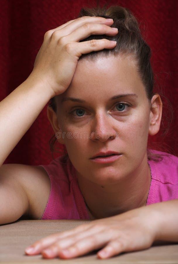 απελπισμένη γυναίκα stressconcept στοκ εικόνες