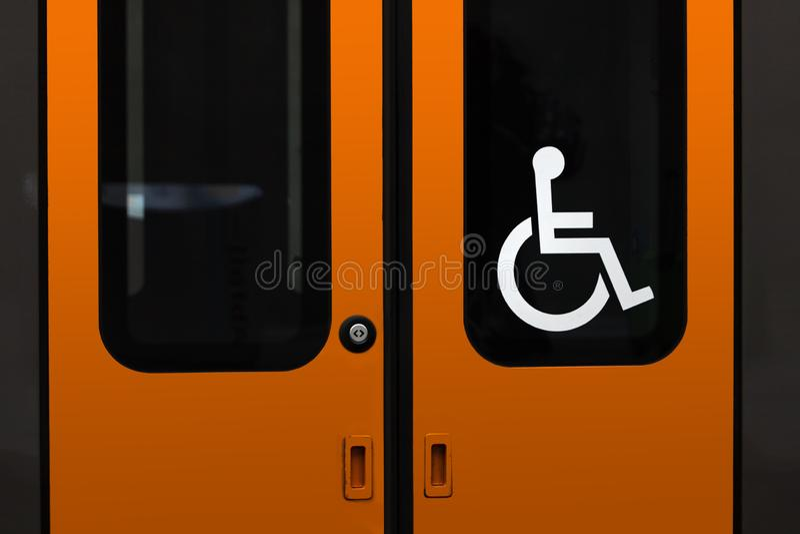 απενεργοποιημένη είσοδος στην αμαξοστοιχία στοκ εικόνες με δικαίωμα ελεύθερης χρήσης